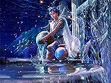 Rompecabezas - Constelación Acuario Ángel(300 Piezas 52,5 x 38,5cm) Rompecabezas de Madera Familia Rompecabezas Arte Regalo Navidad cumpleaños