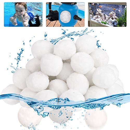 Vegena Filter Balls 700g Pool Filterbälle, Filterballs für Sandfilteranlagen, Quarzsand Filter Balls, Filter für Sandfilteranlage, Ersatz Poolfilter Filteranlage für Pool Sandfilter