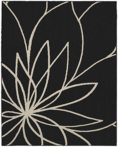 Garland Rug Grand Floral 8' x 10' Black/Ivory