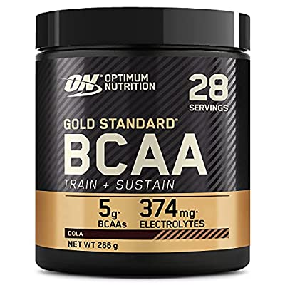 Optimum Nutrition Gold Standard BCAA Powder Branch Chain Amino Acids Supplement with Vitamin C, Wellmune and Electrolytes for Intra Workout Support, Cola, 28 Servings, 266 g