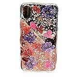 One Life ,one jewerly iPhone 5/se/5s púrpura Larkspur, caja de teléfono de flores secas prensadas genuinas, hecha a mano, (qué tipo de carcasa del teléfono móvil se necesita?