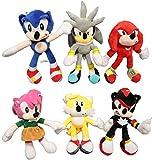 XINGENG Muñeco de Peluche Sonic 6 unids/Lote Juguete de Peluche sónico Amy Rose Sonic-Shadow-Silver ...