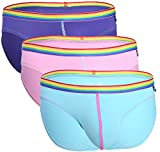 Andrew Christian Hombre Slip Pack de 2/3 Boy Brief Unicorn 3-Pack 90842, Multicolor S