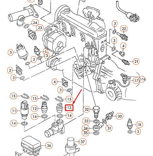 GTV INVESTMENT A4 B5 Motorkühlmittel-Temperatursensor 025906041A