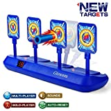 Gloween Upgraded Electronic Shooting Target Scoring, Auto Reset Digital Targets Compatible with Nerf Guns Toys, Ideal Gift Toy for Age of 6,7,8,9,10+ Years Old Kids, Boys & Girls