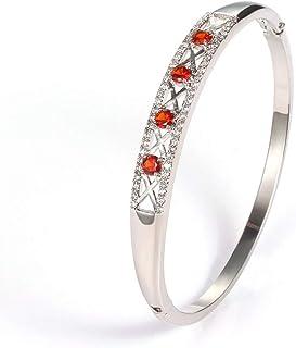 Almusen Women Hollow Bangle Cubic Zirconia Stones Jewelry for Women with Crystal Bracelet Birthday Women Teen Girls Women ...