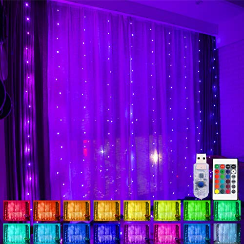 16 Colors Changing Window Curtain Lights