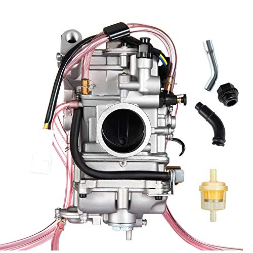 PUCKY Carburetor for YAMAHA YZ400F 1998-1999,YZ426F 2001-2002,YZ450F 2003-2009 WR400F 1998-2000 WR426F 2001-2002 WR450F 2003-2011 Replace for KEIHIN Flat side FCR40 FCR 40mm