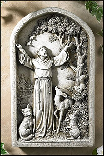 Saint St Francis Patron of Animals Peace Tree Figurine Patio Garden Home Statue