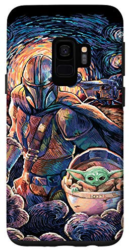 Galaxy S9 Star Wars: The Mandalorian & The Child Starry Night Style Case