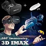 Casque 3D VR avec de nouvelles lunettes de réalité virtuelle à distance, visionneuse de jeu vidéo avec film en verre...