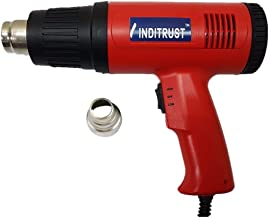 Inditrust 2000 Watt Professional Hot Air Gun with Dual Temperature Setting for Shrink Wrapping, Packing, Paint Removal for Industrial Use (Red)