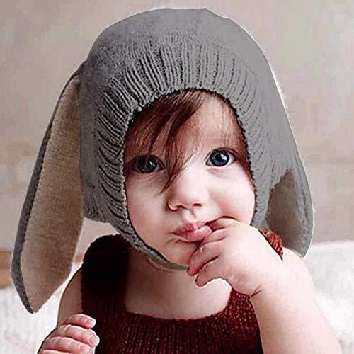 Per Sombreros Gorros Bebés Niños Niñas Gorros Hecho de Punto de Invierno con Decoración de Orejas Lindos para Fotografía