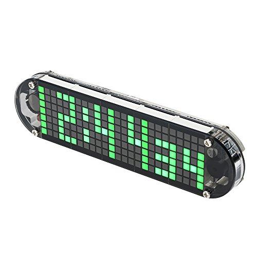 KKmoon DS3231 Hohe Genauigkeit DIY Digital Dot Matrix LED Wecker Kit mit Transparentem Fall Temperatur Datum Zeitanzeige