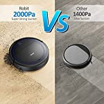 """Robit V7S PRO Robot Vacuum Cleaner, Upgraded 2000Pa Strong Suction, Ultra-Thin, Drop Sensor, Quiet, Self- Charging… 10 🐱 Enhanced 2000Pa Strong Suction: With the most advanced powerful motor, Robit V7S Pro Robot Vacuum has a 2000Pa intense suction, easily picking up dust and hair even from hard floor and carpet.3 Stage Cleaning System provided meets any various demands, you can choose whichever you like. 🐶 Slim Body & Super Quiet: Applying unique High quality Nidec brushless motor, this robot vacuum cleaner is endowed with mini noise while cleaning, so you can enjoy yourself with no disturbance. Only 3.1"""" height makes it easy to freely glide under the bed, the sofa or the table , and all the hidden dust can be swept away. 🐹 Schedule a Cleaning : Delivered by a Time Reservation, this robot vacuum pet can work perfectly as scheduled and multiple cleaning modes generates a customized cleaning routine."""
