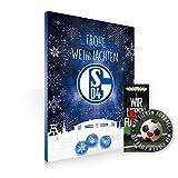 Adventskalender Schokoladenkalender Kalender FC Schalke 04 S04 Weihnachtskalender Fussball Bundesliga gefüllt mit Schokolade versüsse Deine Advenrszeit