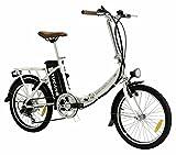 BASIC PRO - Bicicletas Electricas - Display LED con 3 niveles de ayuda - Plato delantero de 52 dientes (BLANCO)