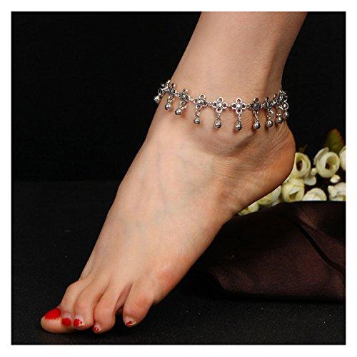Tpocean Fußkettchen verstellbar Seestern Türkis Schildkröte Perlen Fußkettchen für Frauen Mädchen Sandale Strand Fußkettchen H-1PCS