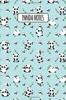 Panda Notes: Blank Lined Notebook with Giant Panda Facts - Dancing Pandas Mint (Cute Panda Pattern Journals for Writing & Journaling)