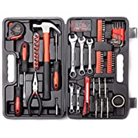 148-Piece Cartman General Household Hand Tool Kit With Plastic Toolbox Storage Case