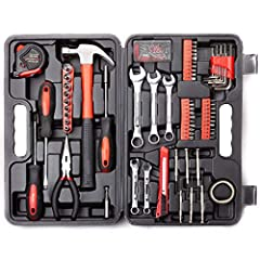 Unisex 148-Piece Hand Tools Kit - Ideal for home and garage repairs Heat treated and chrome plated to resist corrosion. Contains the tools needed for most small repairs around the house Securely housed in a handy blow molded case. All tools meet or e...