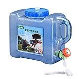 N/T - Bidón de agua portátil para camping, 5 L, 12 L, con grifo, para exteriores, camping, picnic, barbacoa, viajes largos