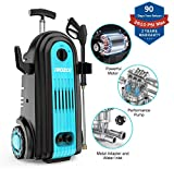 iRozce Pressure Washer 2610PSI 1.85GPM, Electric Power Washer with Foam Cannon and Metal Adapter for Driveway/ Car Cleaning, Blue