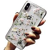 Bakicey iPhone 8 Hülle, iPhone 7 Handyhülle Getrocknete Blumen Hülle Kristall Gel Schutzhülle Handgefertigt Immerwährende Blume Bumper Cover Schale Schutzhülle für iPhone 8/iPhone 7 Daffodil