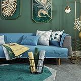 YUTJK Toalla de Chenilla para sofá, Salón de sofá, Fundas de Asiento de sofá de Tela para Sala de Estar, Funda Protectora de Muebles, para salón, Azul