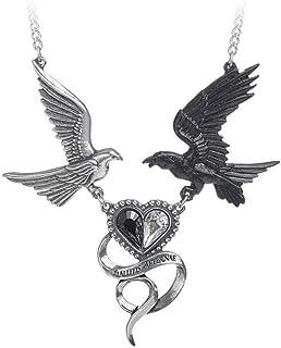 Alchemy Women's Epiphany of St. Corvus Fashion Accessory Gothic Swarovski Crystals Pewter Pendant Necklace