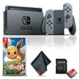 Nintendo Switch (Gray) Gaming Console Bundle with...