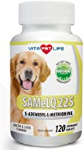 Vita Pet Life Same for Dogs 225, S-Adenosyl-l-Methionine, Promotes Cognitive Brain Support and Natural Hepatic Liver Health, 120 Natural Chew-able Tablets.