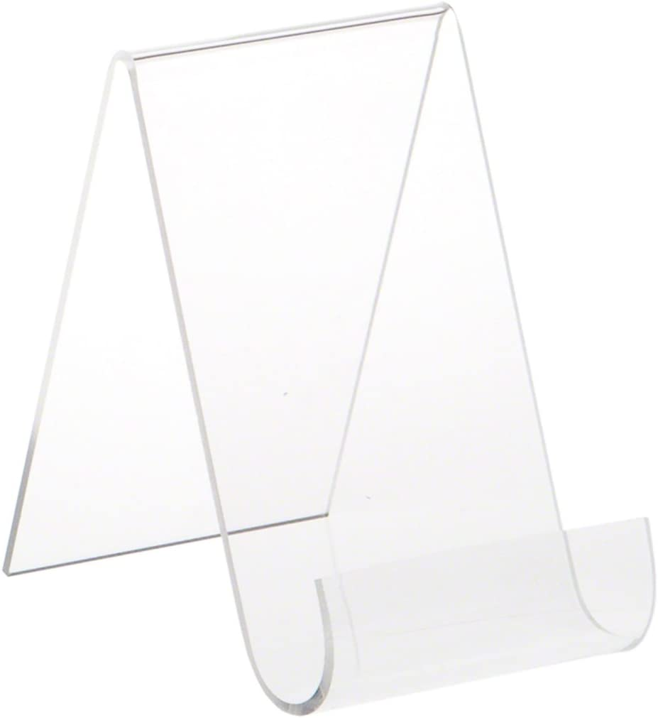 """6/"""" H x 4/"""" W x 3.25/"""" D Plymor Acrylic Flat Back Easel w// Shallow Support Ledges"""