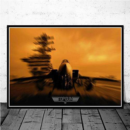 Top Gun Movie Movie póster cómico y Grabado Sala de Estar Mural Fashion Print Poster,Pintura sin marco-50X75cm