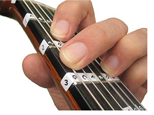 Fretnote Gitarren-Sticker für Konzertgitarre / spanische Gitarre, Griffbrett rechts, 13 Aufkleber 3/4-Größe