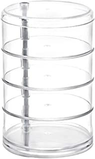 TOPBATHY Cosmetic Jewelry Box Creative Transparent PS Acrylic Four-Layer Circular Rotating Desktop Storage Box