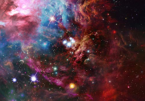 wandmotiv24 Fototapete Weltraumnebel Universum Weltall Sternen S 200 x 140cm - 4 Teile Fototapeten, Wandbild, Motivtapeten, Vlies-Tapeten M4849