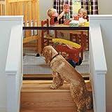 Puertas de Seguridad Interiores para Perros - Delaman Caja de Seguridad Portátil y Plegable, Instalación Fácil, Valla de Seguridad para Bebés, Caja de Seguridad para Mascotas, Negro