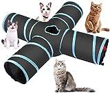 Enmayode - Tubo per gatti a 4 vie, spazioso e resistente agli...