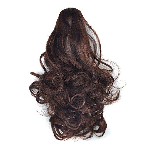 Battnot Damen Haarteile Zopf Hübsches Dicken Gewellten Lockigen Pferdeschwanz Schachtelhalm Clip Haarverlängerungen Frauen-Mädchen-Perücken-Haar-Ring-Brötchen...