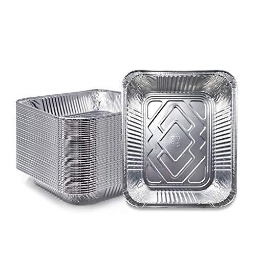 "(120 Pack) Premium Lasagna Pans 14"" x 10"" x 3"" Heavy Duty l Disposable Aluminum Foil for Roasting Turkey, Baking, or Cooking"