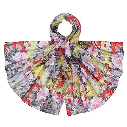 Allée du foulard Etole soie Floraly - Couleur - Multicolore