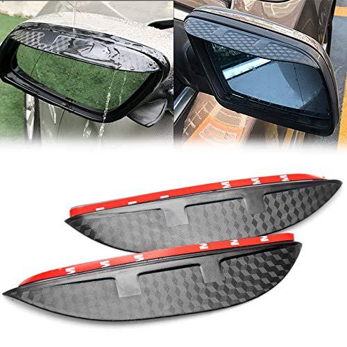Xotic Tech 2pcs Rear View Side Mirror Rain Visor Shade Guard Compatible with Nissan Murano Rogue X-Trail Rogue Sport, Carbon Fiber Texture Rearview Mirror Snow Visor Guard Anti-rain Eyebrow