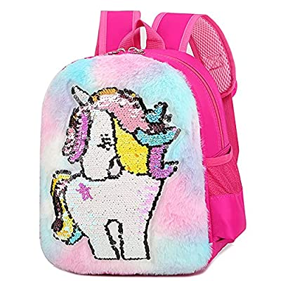 Hilloly Mochila de Unicornio Regalos Para Niñas Mochilas Escolares Juveniles en Gran Capacidad Lindo Bolso Escolar Para Niños con Lentejuelas
