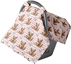 Car seat Covers for Babies - Carseat Canopy - Baby car seat Cover for Newborn Infant Girls (Watercolor Stripes)