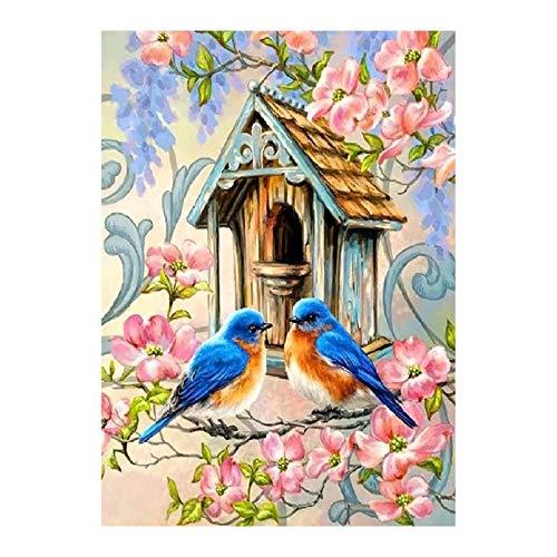 WOYAOFEI Small and Simple 5D Diamond Painting Set 5D Diamond Painting Full of Love Bird Living Room Hanging Painting 30 * 40CM