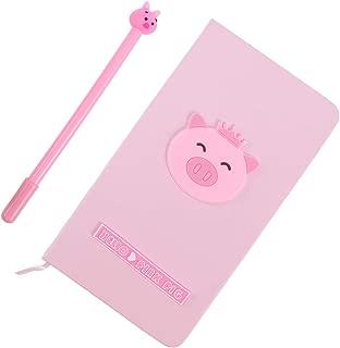 TOYANDONA 1pc Notebook and Pen Set Cartoon Handmade Cute Writing Diaries Memo Pad Notepad for Gift Kids Present School