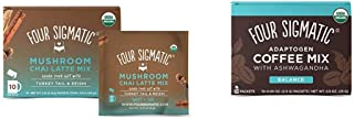 Four Sigmatic Chai Latte, Organic Instant Chai Latte with Turkey Tail, 10 Count & Four Sigmatic Adaptogen Coffee, Organic ...