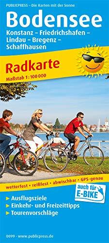 Bodensee und Umgebung: Radkarte mit Ausflugszielen, Einkehr- & Freizeittipps, wetterfest, reissfest, abwischbar, GPS-genau. 1:100000 (Radkarte: RK)