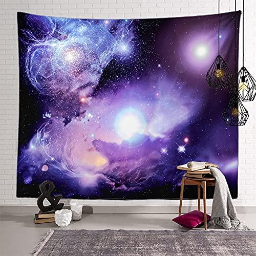 KHKJ Astronaut Planet Tapiz cabecero de Pared Arte Colcha Dormitorio Tapiz para Sala de Estar Dormitorio decoración del hogar A13 95x73cm